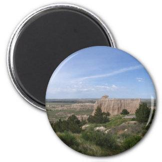 Badlands South Dakota 2 Inch Round Magnet