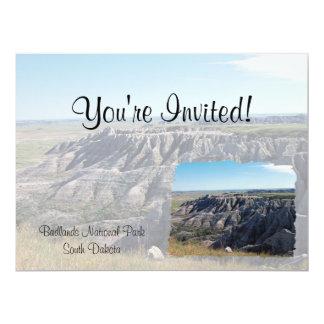 "Badlands, South Dakota 6.5"" X 8.75"" Invitation Card"
