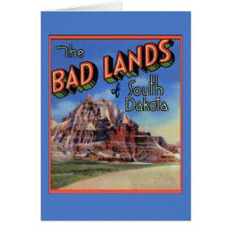 Badlands South Dakota Large Letter Greetings Greeting Card