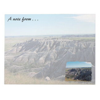 Badlands, South Dakota Notepad