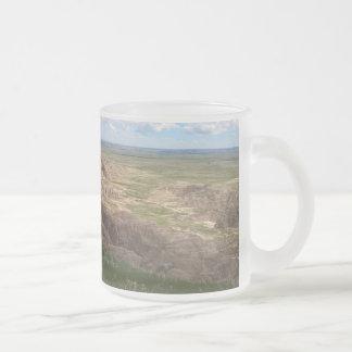 Badlands South Dakota Shadow and Light Frosted Glass Coffee Mug