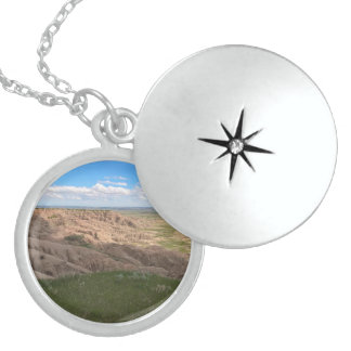 Badlands South Dakota Shadows and Light Locket Necklace