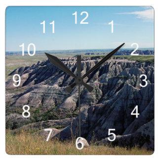 Badlands South Dakota Square Wall Clock