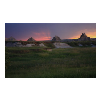 Badlands Sunset Poster