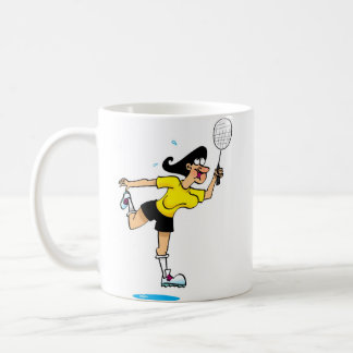 Badmington Lady Coffee Mug
