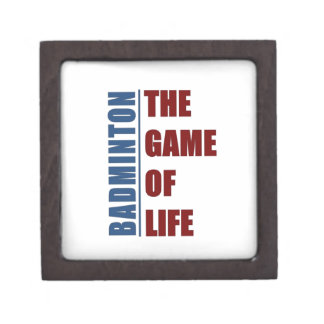 Badmington the game of life keepsake box