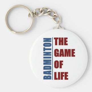 Badmington the game of life keychain
