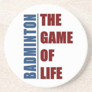 Badmington the game of life sandstone coaster
