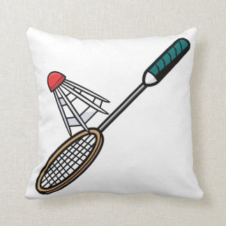 Badminton 4 throw pillow