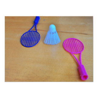 Badminton 6.5x8.75 Paper Invitation Card