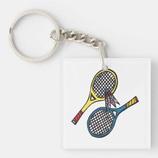 Badminton 8 keychain