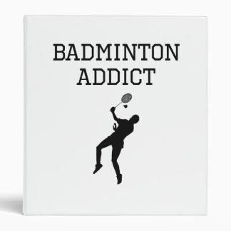 Badminton Addict 3 Ring Binder