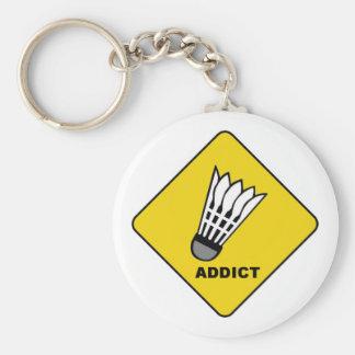 Badminton Addict Key Chain