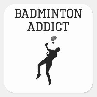 Badminton Addict Square Sticker