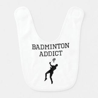 Badminton Addict Baby Bib
