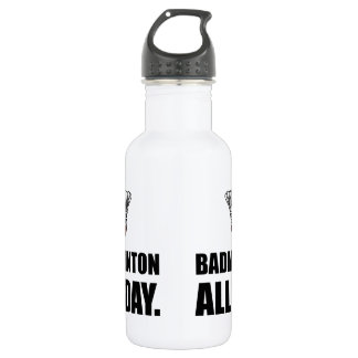 Badminton All Day Stainless Steel Water Bottle