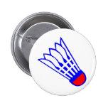 Badminton Birdie Pinback Buttons