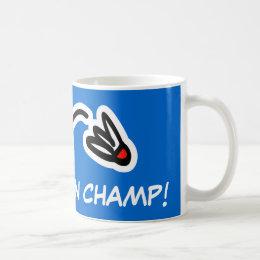 Badminton champion mug