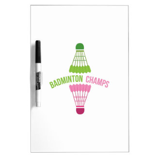 Badminton Champs Dry-Erase Boards