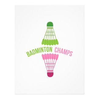 Badminton Champs Letterhead