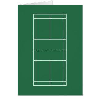 Badminton Court Folding Card
