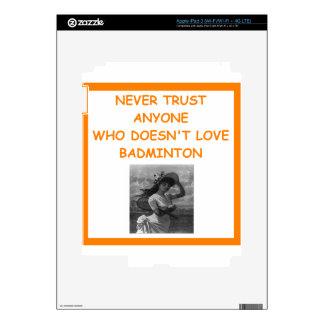 BADMINTON DECALS FOR iPad 3