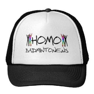 Bádminton del homo gorra