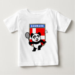 Baby Fine Jersey T-Shirt with Danish Badminton Panda design