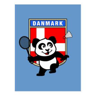 Badminton Denmark Panda Postcard