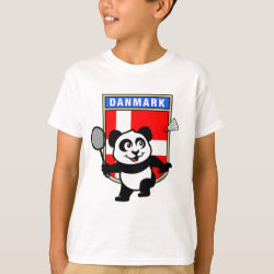 Kids' Hanes TAGLESS® T-Shirt with Danish Badminton Panda design