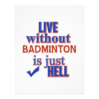 BADMINTON DESIGN LETTERHEAD