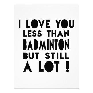 Badminton Designs Letterhead