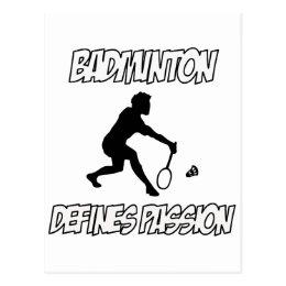 BADMINTON designs Postcard