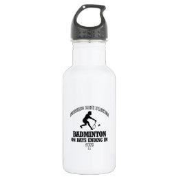 badminton designs stainless steel water bottle