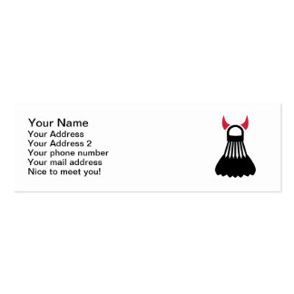 Badminton devil Double-Sided mini business cards (Pack of 20)