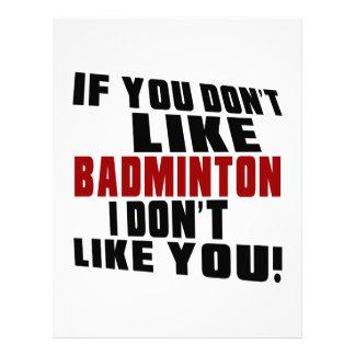BADMINTON Don't Like Letterhead