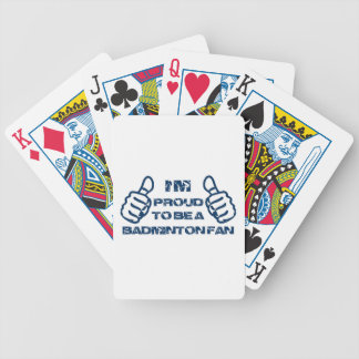 Badminton Fan design Bicycle Playing Cards