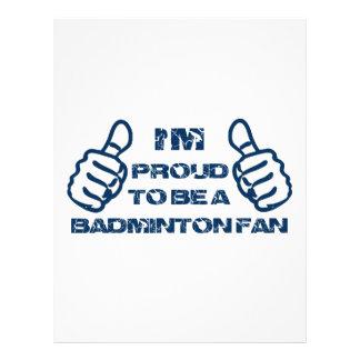 Badminton Fan design Letterhead