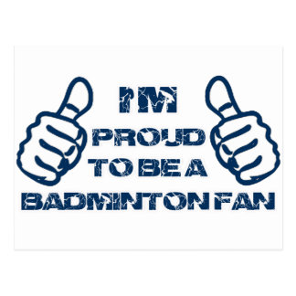 Badminton Fan design Postcard