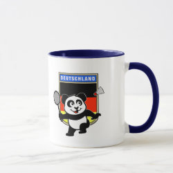 Combo Mug with German Badminton Panda design