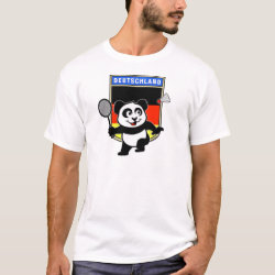 Men's Basic T-Shirt with German Badminton Panda design