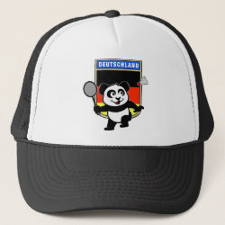 Trucker Hat with German Badminton Panda design