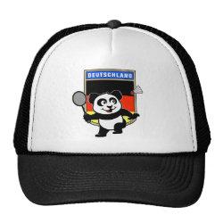 Trucker Hat with German Badminton Panda design