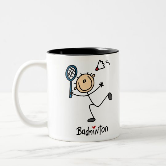 Badminton Gift Two-Tone Coffee Mug