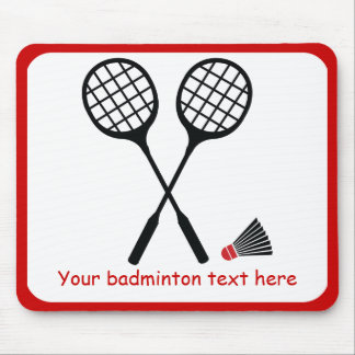 Badminton gifts, racquet and shuttlecock custom mouse pad