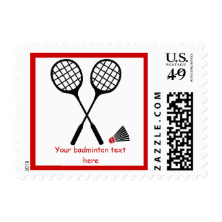 Badminton gifts, racquet and shuttlecock custom postage