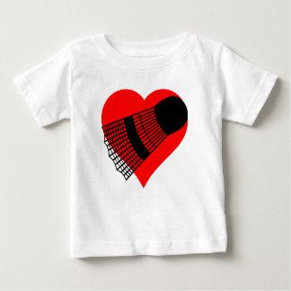 Badminton Heart Baby T-Shirt