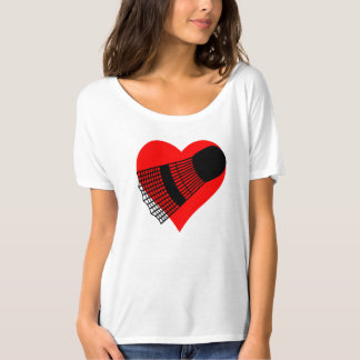 Badminton Heart T-Shirt