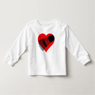 Badminton Heart Toddler T-shirt