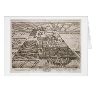 Badminton House in the County of Gloucester, engra Greeting Card